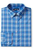LANDS' END Traditional ComfortFirst Coolmax Shirt, Med15-151/2Blue/White... - $29.69