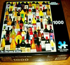 Jigsaw Puzzle 1000 Piece Wine Bottles Collage Friends Night Fun Project ... - $16.82