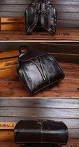 Fashion vintage women backpack daily school bag shoulder travel bag genuine leather 5 thumb200