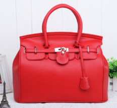 Red Women Handbags Large Leather Shoulder Bags Tote Bags  H411-6 - $45.99