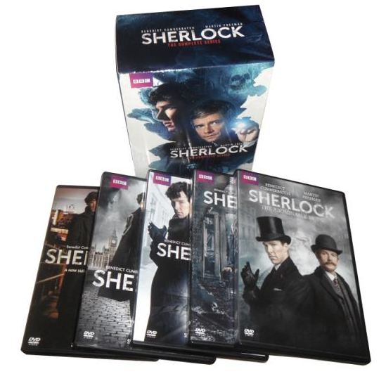Sherlock The Complete Seasons 1-4 1.2.3.4 DVD Box Set 11 Disc Free Shipping