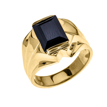 Men's 14K Yellow Gold 4 Carat Onyx Ring - $559.99+