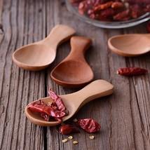 4pcs Mini Wooden Spoon Small Kitchen Spoon Condiments Scoop Sugar eco fr... - €8,95 EUR