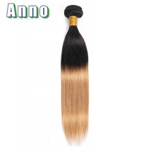 "Annowig Ombre Gold Straight Hair Bundles Malaysia Hair Weaves 10"" 24"" No... - $63.30"