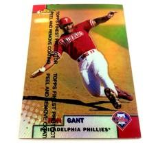 1999 Topps Finest Refractor Ron Gant Parallel Card #161 Philadelphia Phillies - $2.92
