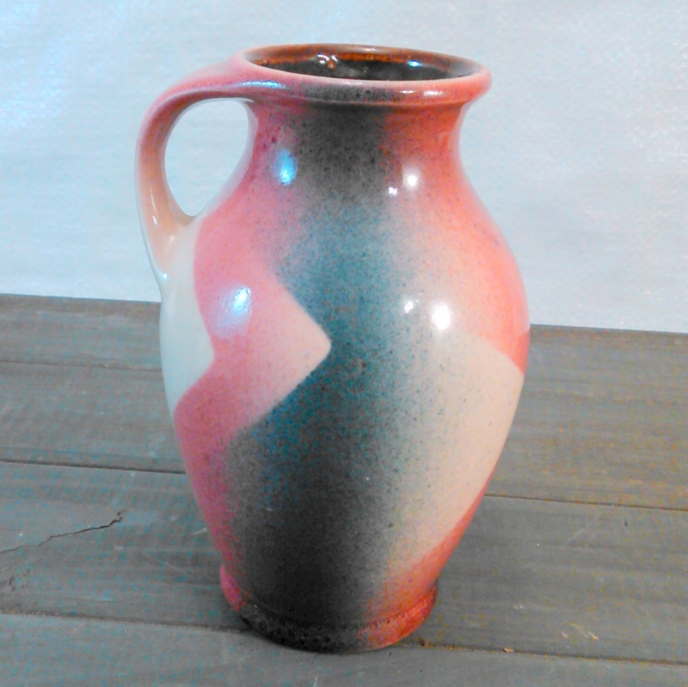 "Bay Keramik Hand-Painted Vase Made In West Germany C.1950'S-60'S abt 5 3/4"" tall"