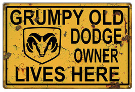 Dodge Grumpy Old Owner Vintage Garage Shop Metal Sign 12x18 - $25.74