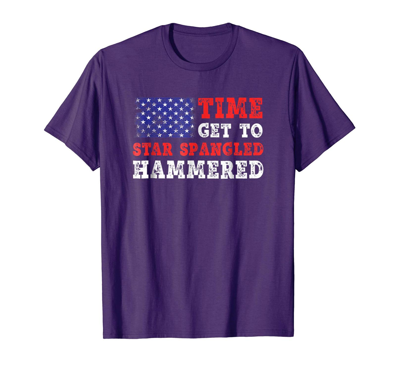 Brother Shirts - Time To Get Star Spangled Hammered T-Shirt Fourth of July Men