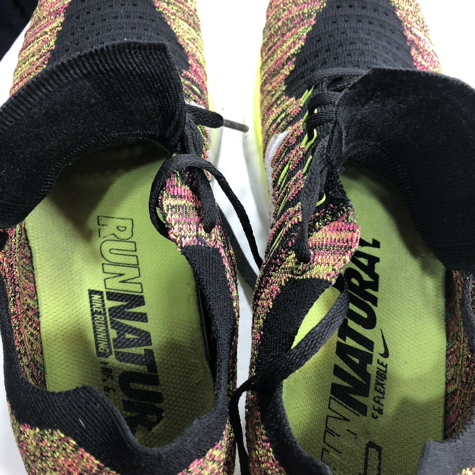 Nike Free RN Flyknit Running Shoes Multicolor Trainer Men's 12 Athletic Air