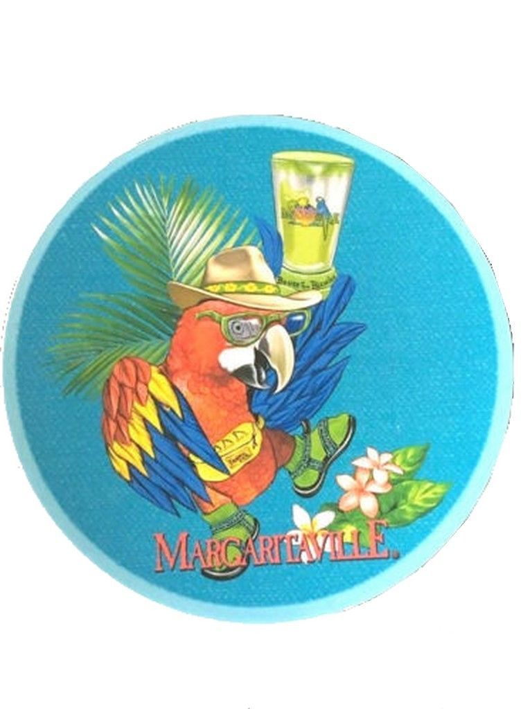 "Margaritaville Parrot Blue Melamine 8.5"" Salad Plates Set of 3 Jimmy Buffett"