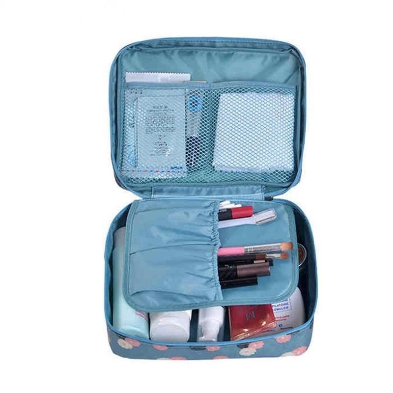 Make Up Bag Women Waterproof Cosmetics Travel Case Organizer For Toiletry Pouch - $5.99