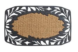 Outdoor Welcome Mat, Vine Leaves Decorative 18x30 Coir Doormat - $26.09
