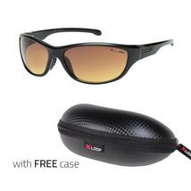 Sport Wrap Hd Driving Vision Sunglasses Orange Lens High Definition Glasses Bl - $10.99