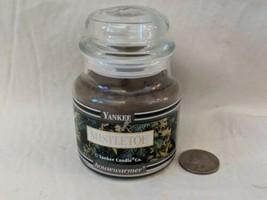 Yankee Candle Mistletoe Green 3.7 oz Black Band Jar NEW  - $18.69