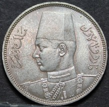 Egypt 5 Piastres, AH-1358 (1939) Gem Unc Silver~Fantastic~Free Shipping - $53.50