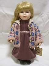 Boyds Yesterdays Child Porcelain Girl Doll Blond With Blue Eyes Elizabet... - $13.59
