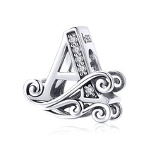 WOSTU 2019 Hot Sale 925 Sterling Silver A-Z Letters Beads Fit Original C... - $19.94