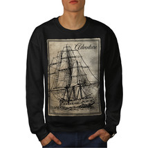 Old Classic Sailboat Jumper Huge Ship Men Sweatshirt - $18.99+