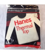 VTG 90s NOS Men's XXL 2X Hanes Deadstock Thermal Waffle Top Long Sleeve ... - $34.64