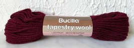 Vintage Bucilla Tapestry 100% Pure Virgin Wool Yarn - 1 Skein Burgundy #56 - $3.33