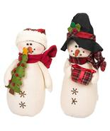 Delton 11.5 Inches Tartan Snowman Stump,Set of 2, 5565-2 - $664,77 MXN
