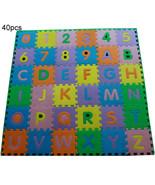40 x Baby Soft EVA Foam Play Mat Alphabet Numbers Puzzle DIY Toy Floor T... - $23.50