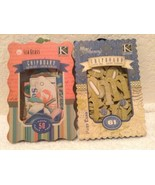 2 NEW in Box Chipboard- Sea Glass & Blue Awning K & Co - $11.95