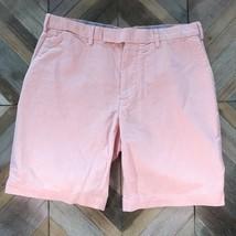 Polo Ralph Lauren New York 33 Mens Chino Oxford Pastel Orange Flat Khaki Shorts - $18.61