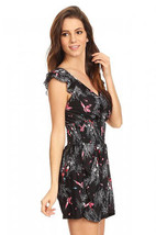Black Floral Romper Sexy Size M  L or XL (run 1 size smaller than tag) - $15.40
