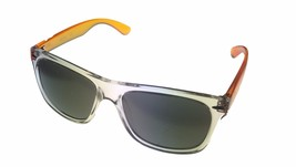 Kenneth Cole Reaction Mens Square Crystal Orange Sunglass Flash Lens KC1... - $17.99