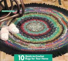 SCRAP YARN RUGS crochet rag rug patterns, instructions for many designs.... - $29.95