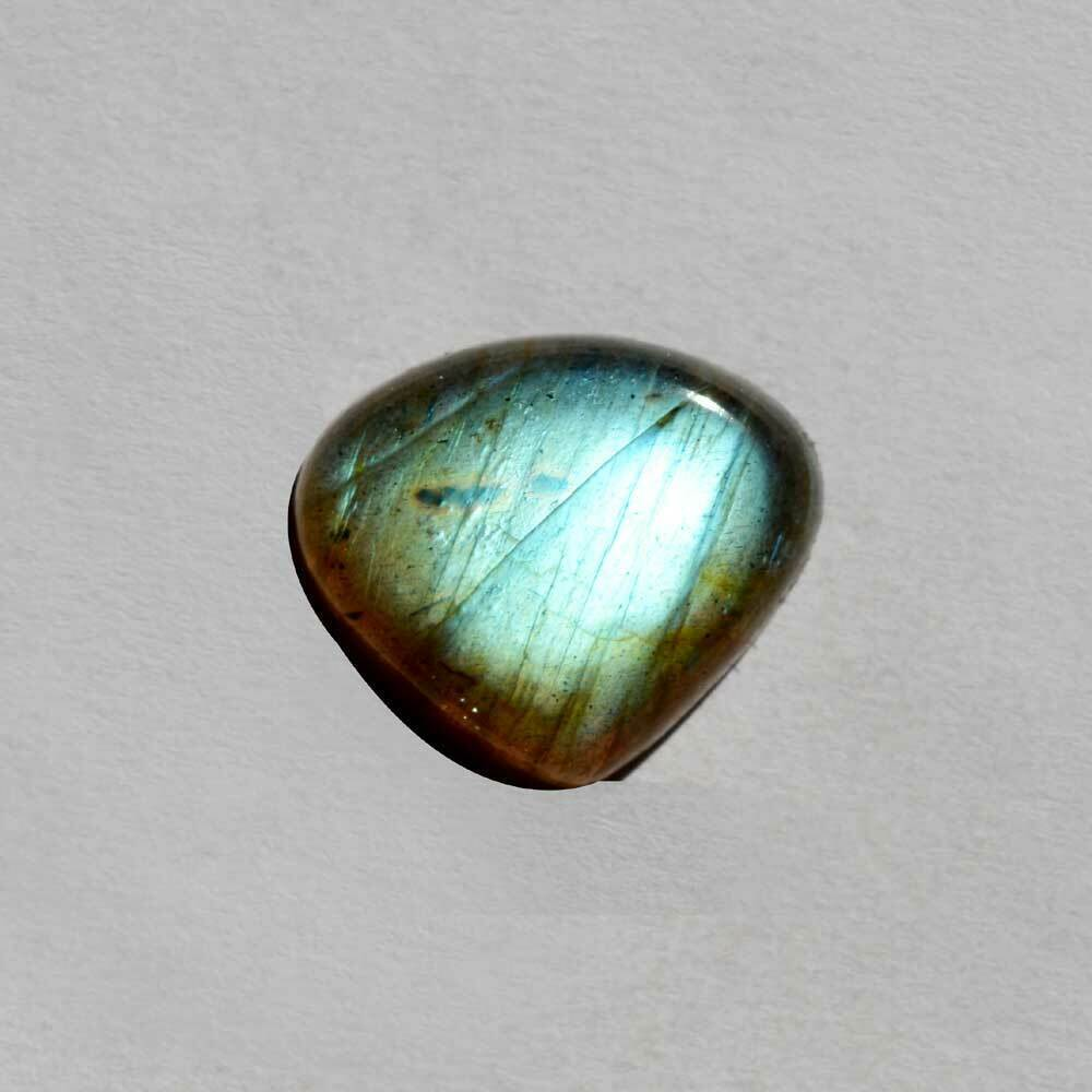 Primary image for Natural Labradorite Gemstone Cabochan 18.5 Cts Triangle Shape Loose Cab R24750