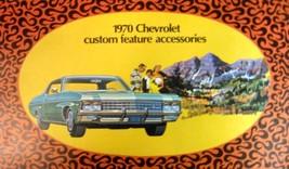 1970 Chevrolet ORIGINAL Custom Feature Accessories Brochure, Wagons, Ful... - $12.32