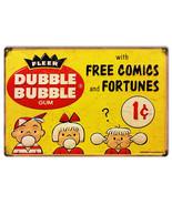 Dubble Bubble Free Comics Reproduction Nostalgic Metal Sign 12x18 - $25.74