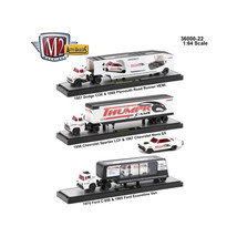 Auto Haulers Release 22, 3 Trucks Set 1/64 Diecast Models by M2 Machines... - $84.57