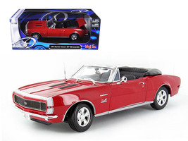 1967 Chevrolet Camaro SS 396 Convertible Red 1/18 Diecast Model Car by M... - $65.99
