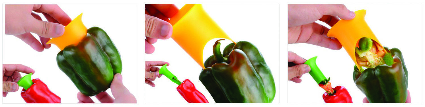 2 Pcs Pepper Corer Tomato Coring Tools Stuffed Jalapeno Bell Rellenos Grill