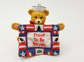 """American Greeting Christmas Ornament - 2001 """"Proud to Be Serving"""" 2.5"""" x 3"""" - $12.49"""