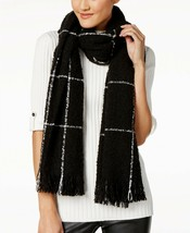 Charter Club  Windowpane Plaid Supersoft Wrap and Scarf in One - $12.86