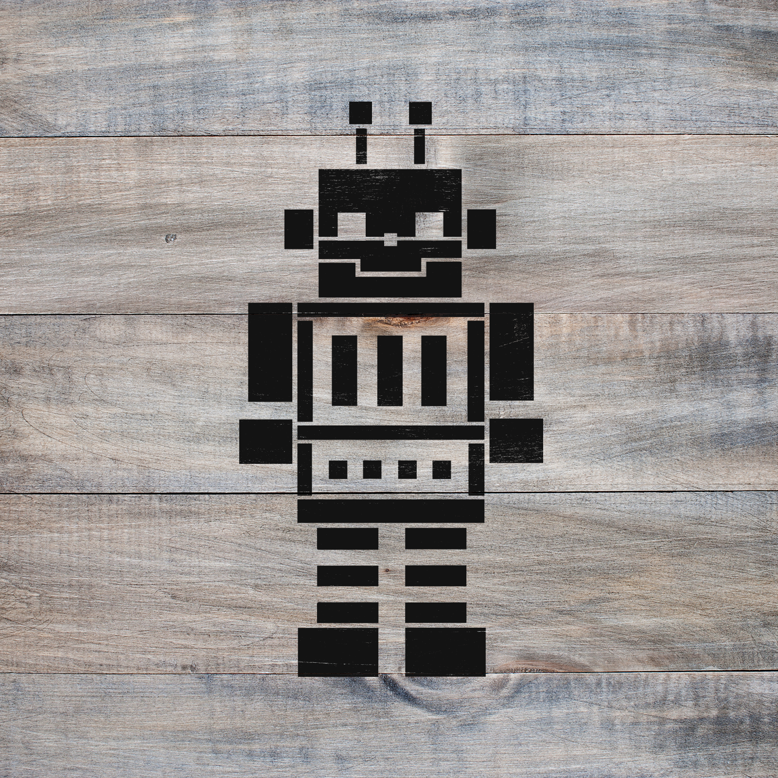 Robot Stencil - Reusable Stencils of Robot in Multiple Sizes