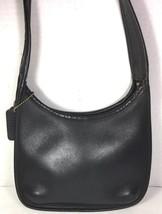 Coach Vintage Small/Petite Black Leather Shoulder Bag- Distressed - $21.33