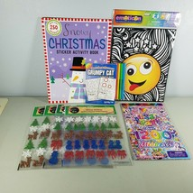 Stickers Children Coloring And Activity Books Emoticon Lot With Markers  - $12.55