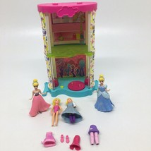 POLLY POCKET  2 Story Mall that Lights Up-With Mixed Lot of Figures-Cind... - $17.75