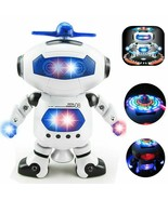 Dancing Robot Toy For 2 3 4 5 6 7 8 Year old Boy girl Kid Toddler Musica... - $32.99