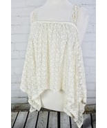 URBAN OUTFITTERS Staring at Stars Ivory Lace Crop Tank Top Size Small Fl... - $33.15