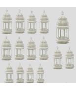 "15 Moroccan Style Lantern Creamy White Candleholder Wedding Centerpiece 12"" - $158.00"