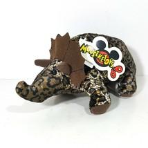 Disney Triceratops Dinosaur Bean Bag Plush Toy Multicolor - $10.88