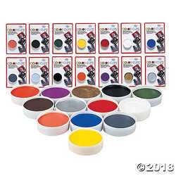 Mehron color cup carded clown white
