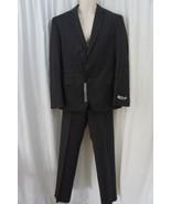 DKNY Mens Suit Sz 42S 35W Dark Grey 100% Wool 2 Piece Garment Business P... - $222.97