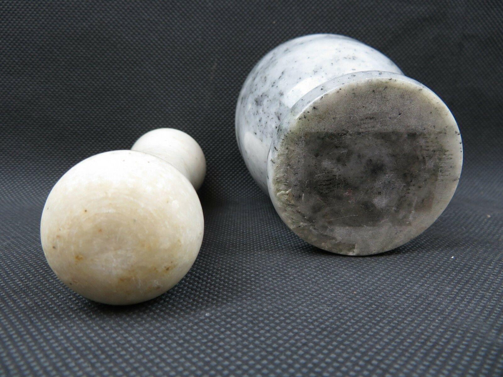 Vintage marble or granite polished mortar and pestle